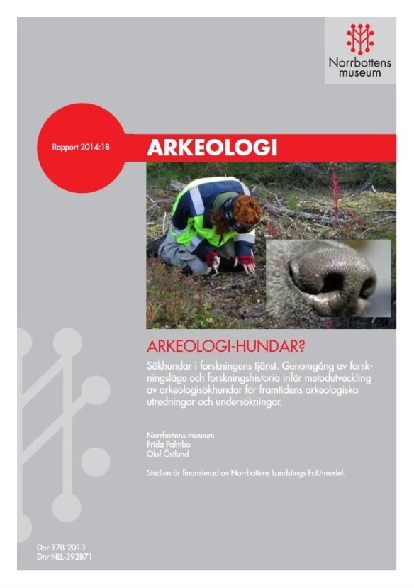 Arkeologi-hundar? Sökhundar i forskningens tjänst. Litteraturstudiens framsida.