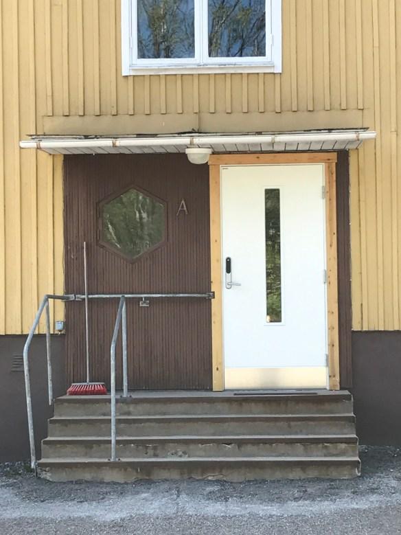Utbytt dörr