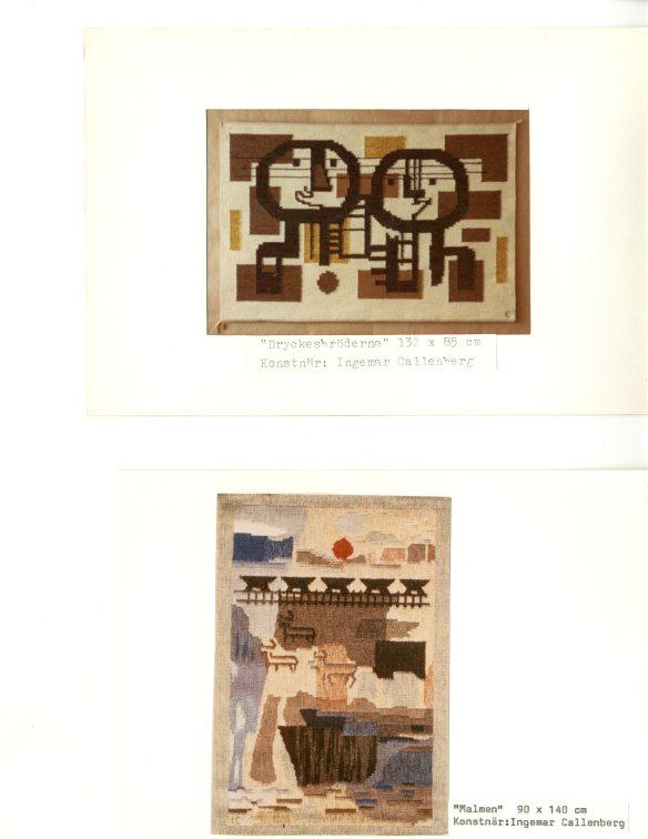 03. Ingemar Callenbergs väggtextil. Foton förvaras i Norrbottens Föreningsarkiv, ark. nr. 2676