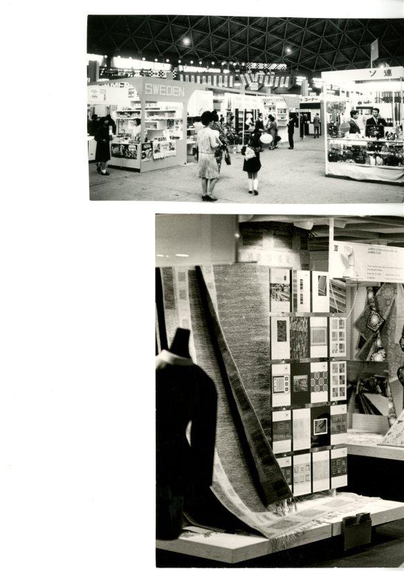 10. Gammelstads Handväveris utställning i Japan. Fotograf okänd. Bilder ur Norrbottens Föreningsarkiv, ark. nr. 2676