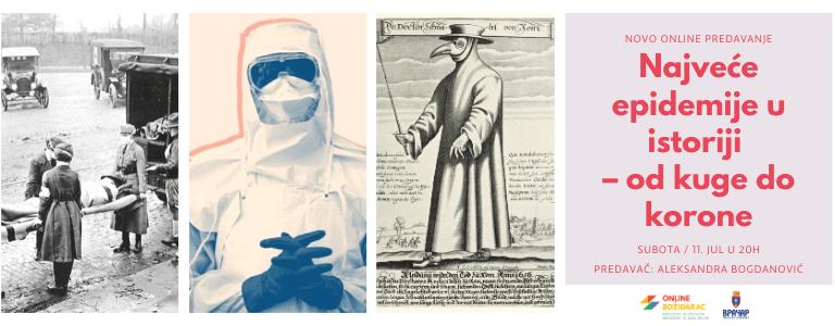 Predavanje: Najveće epidemije u istoriji – od kuge do korone