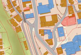 Et av Kartverkets detaljerte kart over Holmestrand