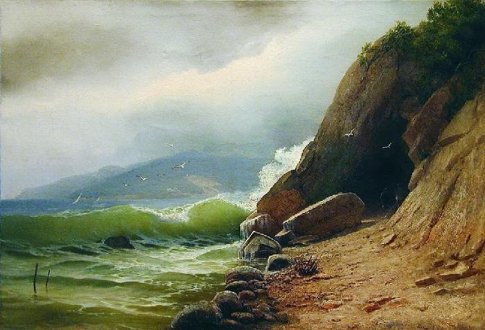 «Грот на берегу моря». Частное собрание. Автор: А.И. Мещерский.