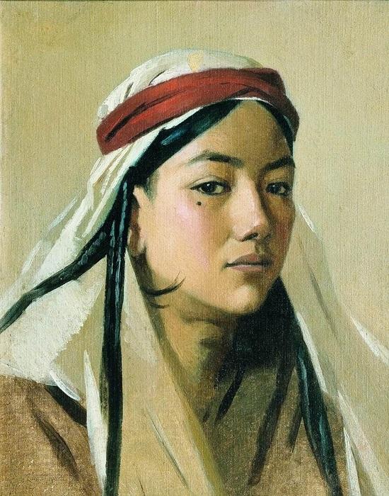 Портрет девушки - бачи. Автор: Василий Верещагин.