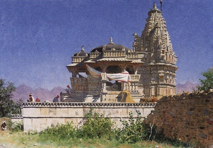 Браминский храм в Адельнуре. (1874-1876). Автор: Василий Верещагин.