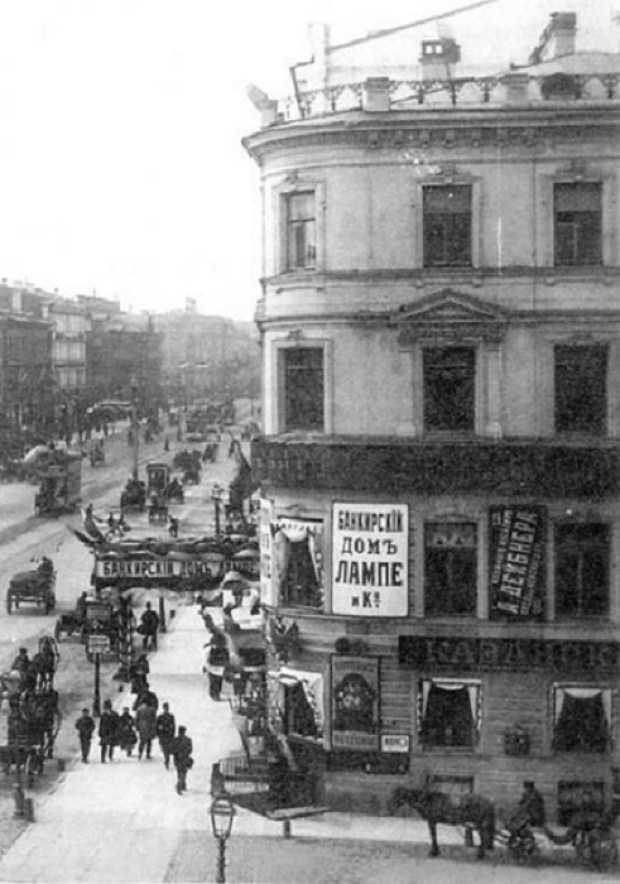 Старое здание на месте дома Зингера 1890-ые