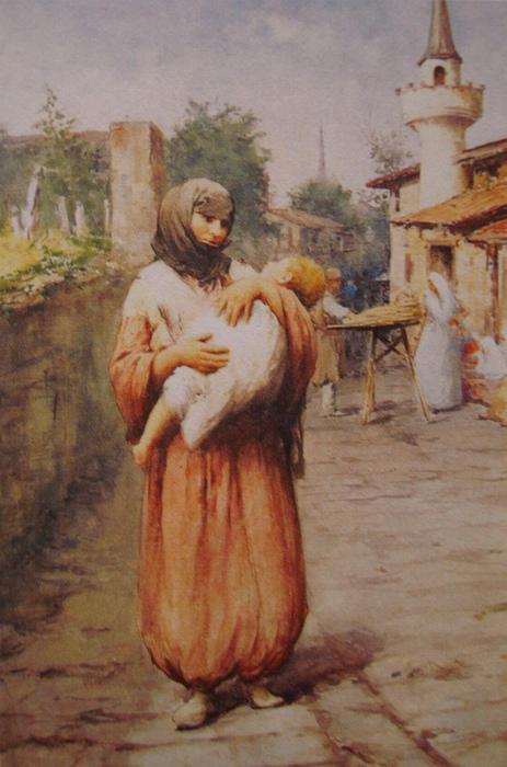 Для этой картины, выигравшей на международном конкурсе, Фаусто позировали его сестра и сын.