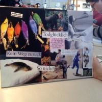Fairhandeln. Fairkleben. Fairschreiben. Collage - Workshops mit Teena Leitow