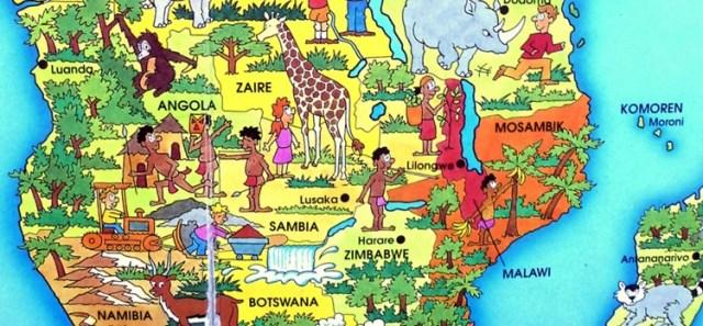 Darstellung Afrikas in einem Kinderatlas
