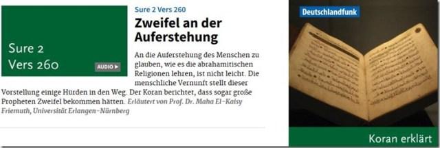 Koranverse erklärt im Deutschlandfunk