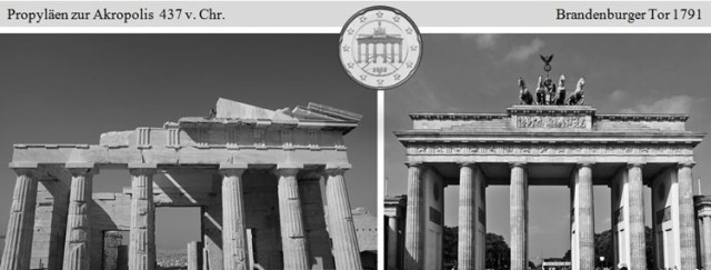 Berliner Tor nach griechischem Tempel