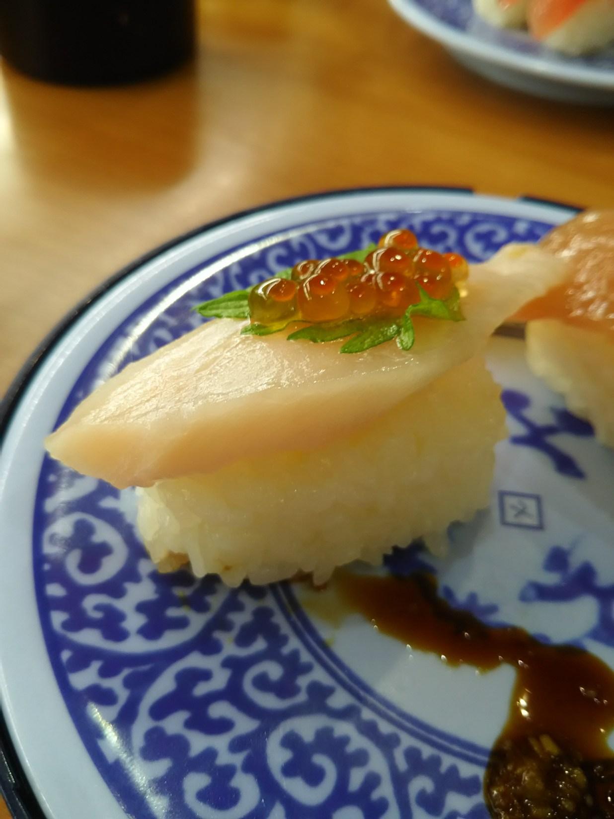 【くら寿司】ビントロのいくら添え
