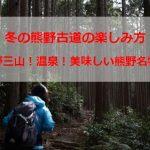 冬の熊野古道の楽しみ方!おすすめは温泉?神社巡り?熊野古道を歩く?美味しい食事?