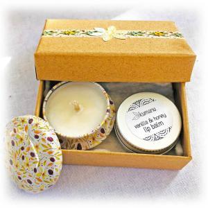 Mini Candle & Lip Balm Set