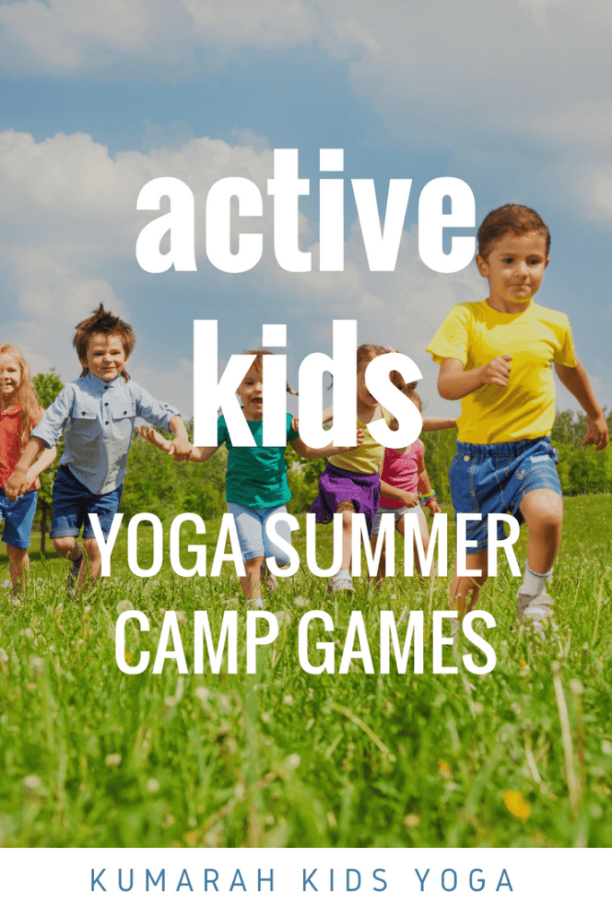 active kids yoga summer camp games from kumarah kids yoga, a bunch of kids running across a green field on a warm summer day games for kids, how to teach yoga to kids, yoga and summer camp, teaching yoga to kids, yoga games, summer activities for kids, active kids games,