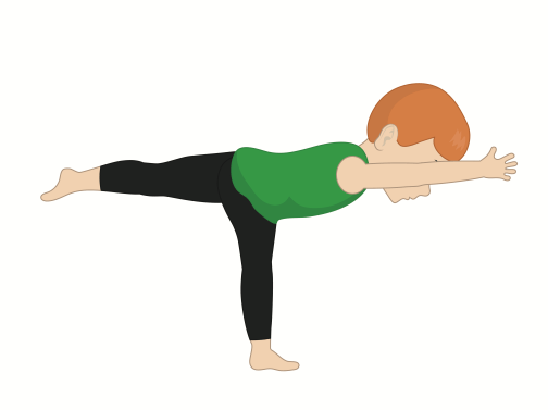 kid doing warrior three pose, yoga pose for kids, yoga at home with kids