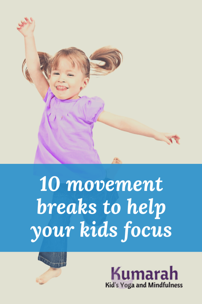 movement and brain breaks for kids, yoga breaks for kids, movement brain breaks for kids