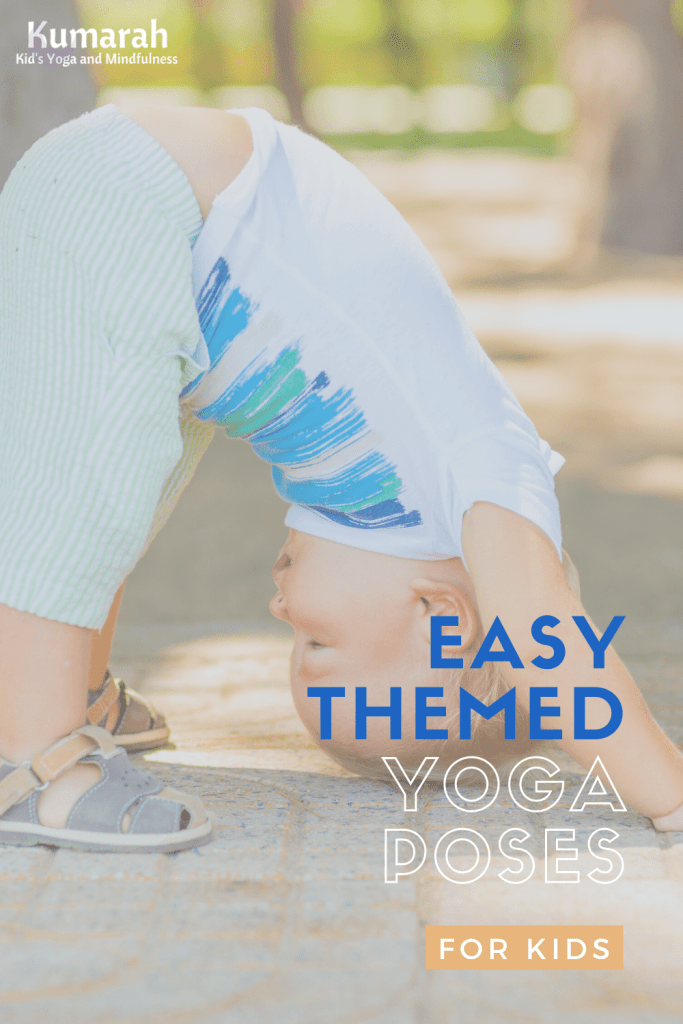 themed kids yoga poses, easy yoga poses for kids of all ages, yoga for little kids
