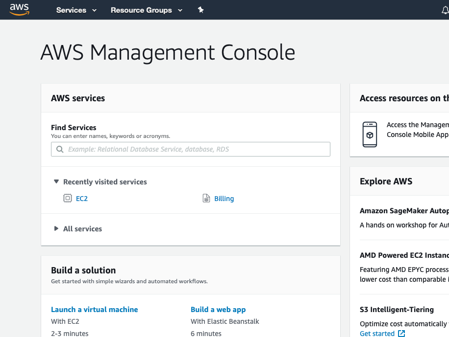 AWS Management Console: setting up free WordPress on AWS