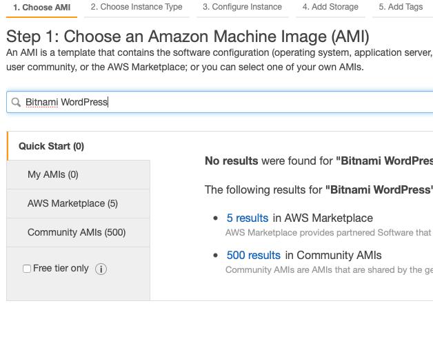 was ec2 instance for WordPress