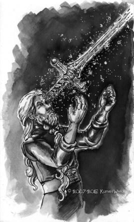 """Sandar's Mastery"" Illustration from Issue 8, ""Astria Olexa""."