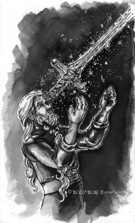 """Sandar's Mastery"" Illustration from Issue 8, ""Astria Olexa""."