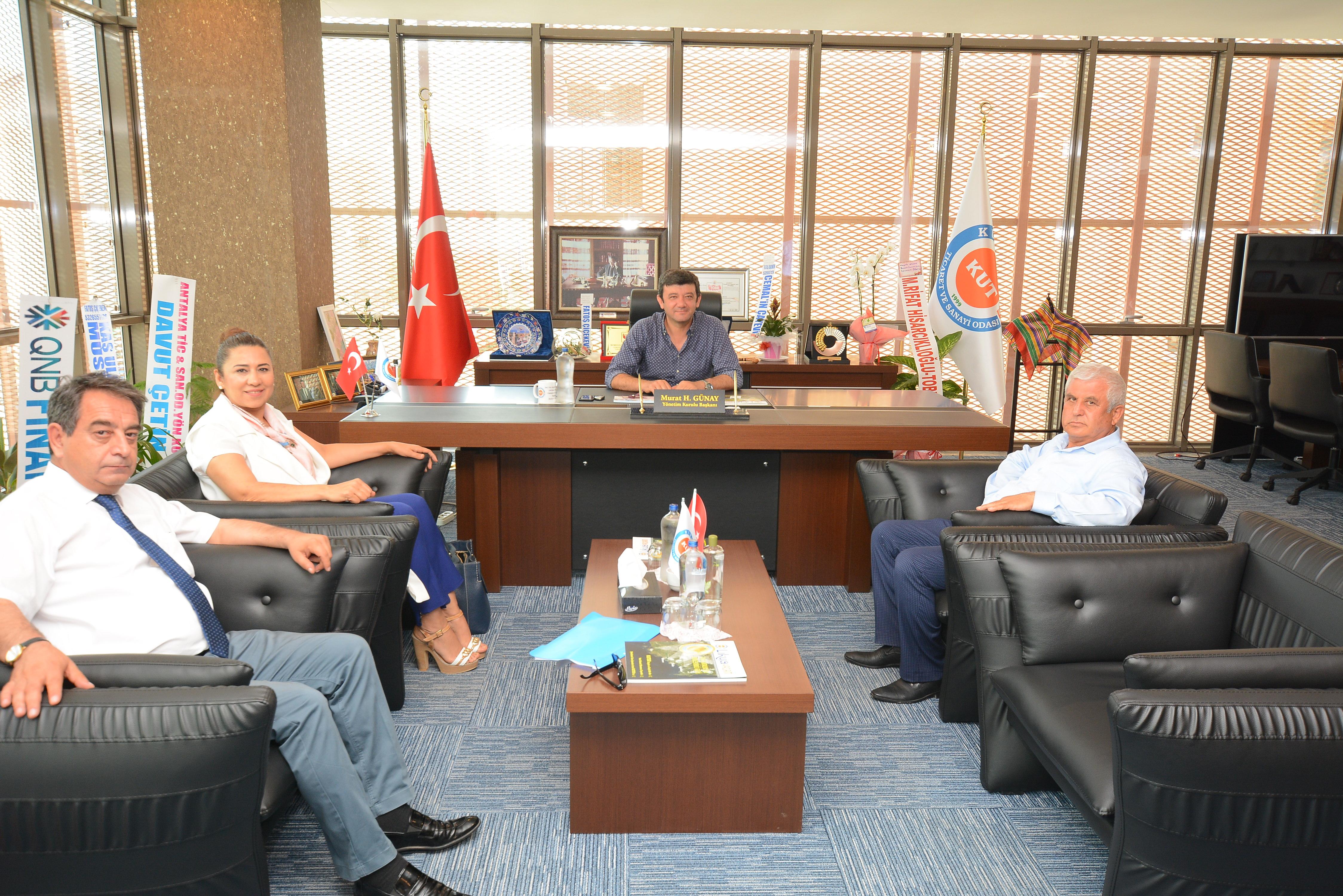 Antalya Ticaret İl Müdüründen ziyaret.