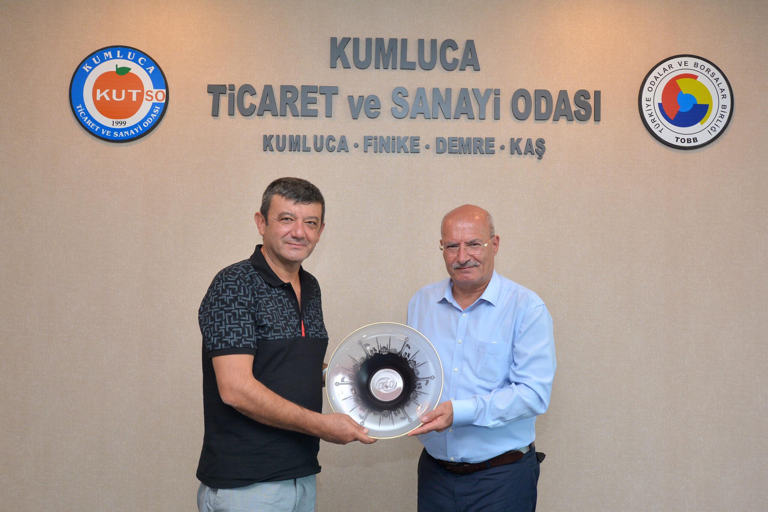 Ankara Ticaret Odası Başkanı Gürsel Baran KUTSO'yu ziyaret etti.