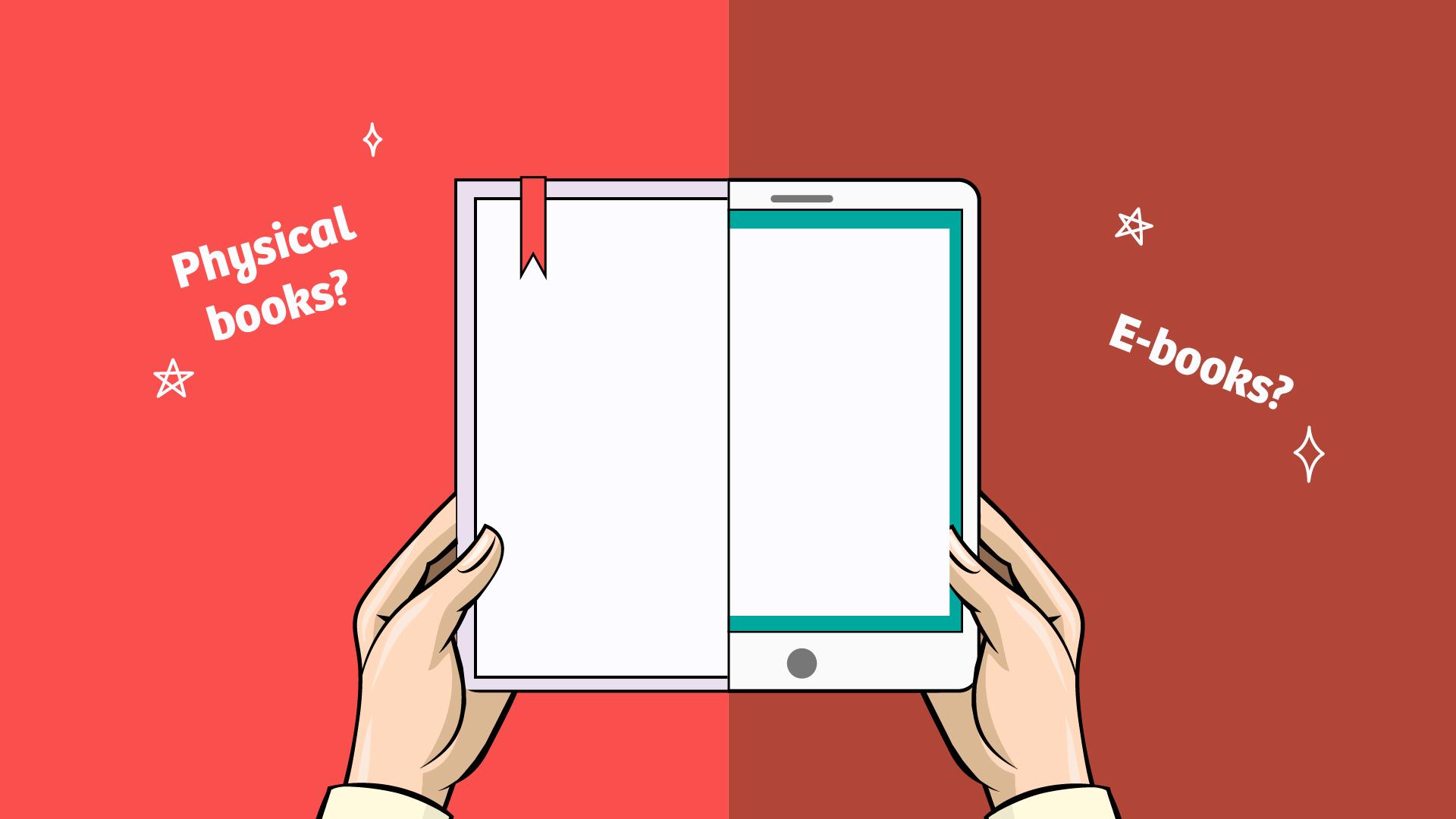 Physical Books vs E-Books-01