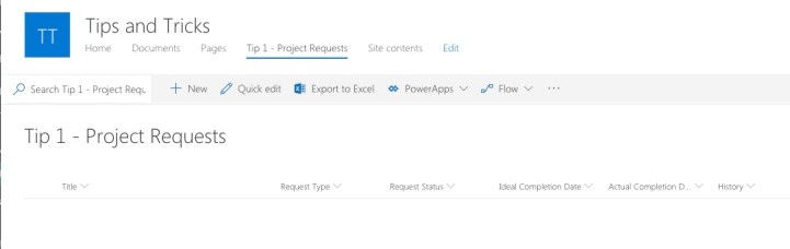 Modern List View Allows for Quick and Easy Column Creation