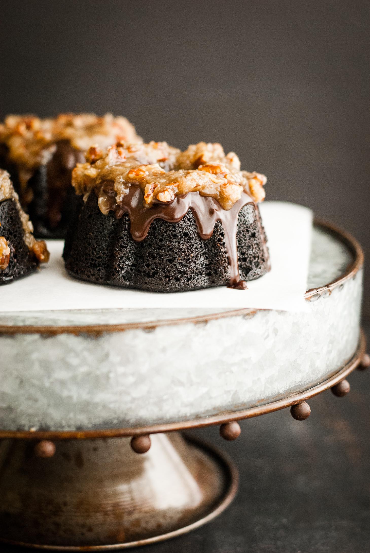 Grain Free German Chocolate Bundt Cakes Kumquat Gluten