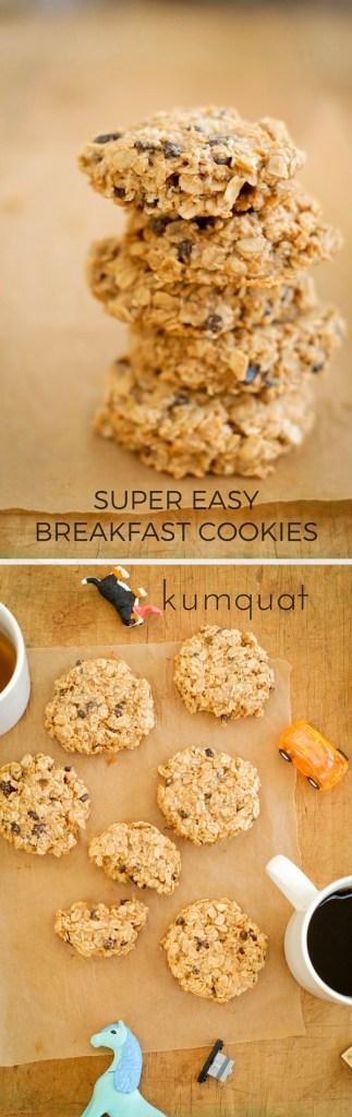 super easy breakfast cookies | kumquatblog.com @kumquatblog