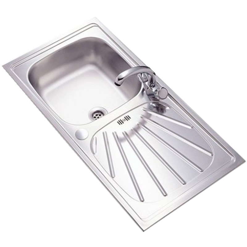 Single Round Bowl Reversible Kitchen Sink Stainless Steel