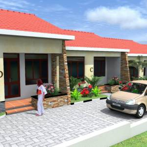 1 BHK - Rental Property Plan (3D and Floor Plan)