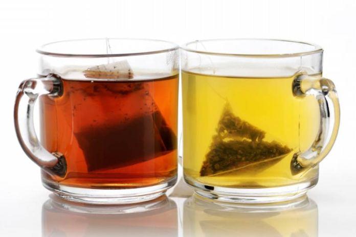 Зелёный и чёрный чай