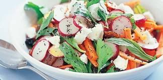 Гламурный салат из редиски