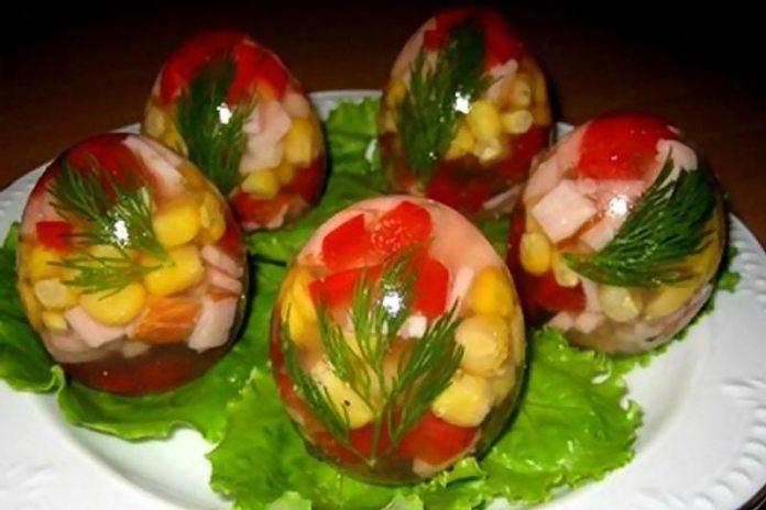 Заливные «Яйца Фаберже»