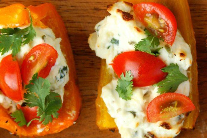 Сырная закуска из болгарского перца