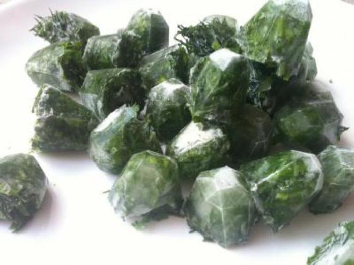 Заморозка зелени впрок