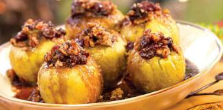 Яблоки медовые с ореховой начинкой