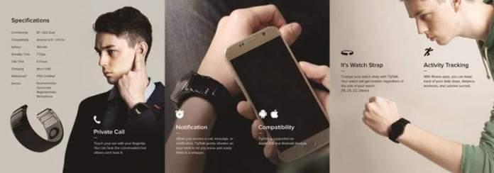 Технология Tiptalk позволяет звонить, приложив палец к уху