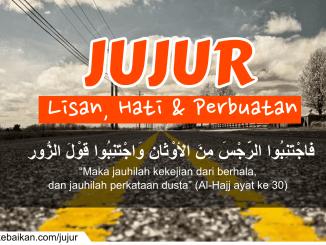 """""""Maka jauhilah kekejian dari berhala, dan jauhilah perkataan dusta"""" (Al-Hajj ayat ke 30)"""