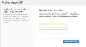 Password verbessern Abfrage