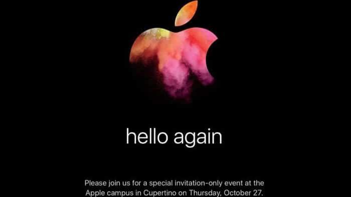 Am 27.10. gibt es neue Macs…