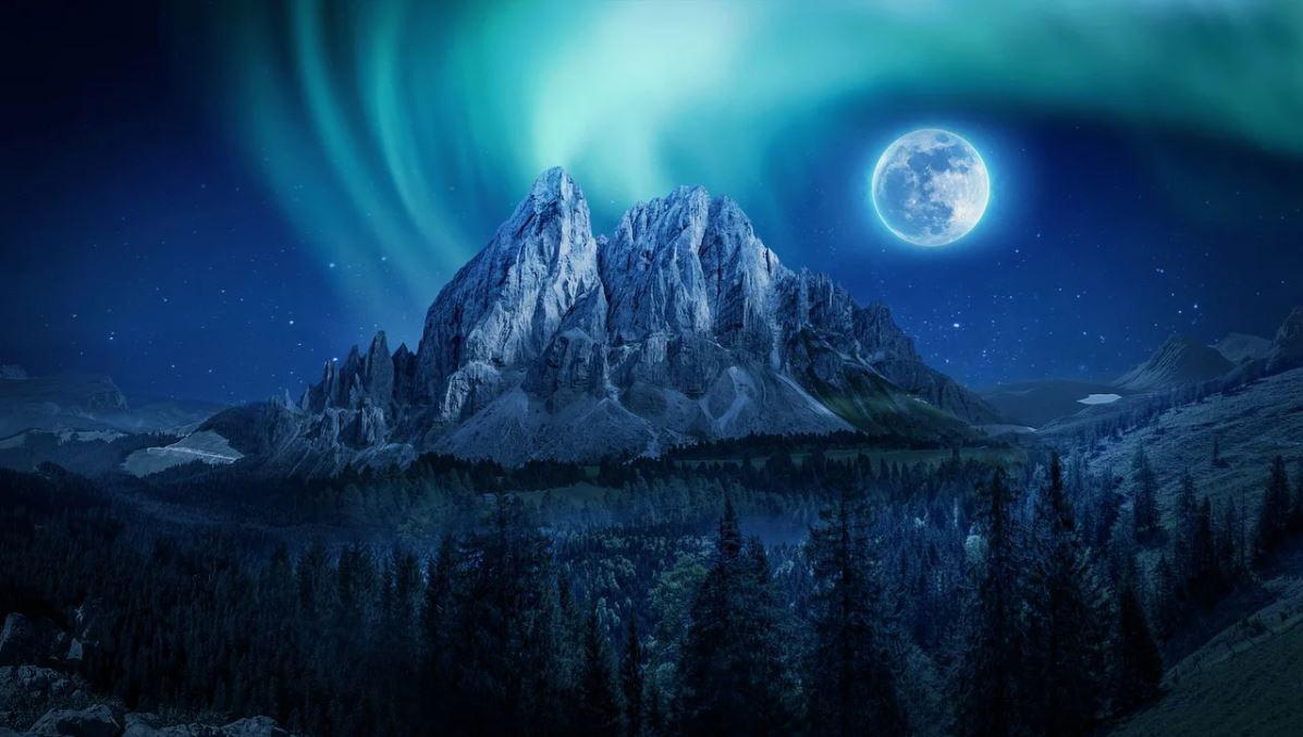 Volle maan in het teken van de Leo