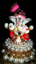Ganesh Red with Pearl base