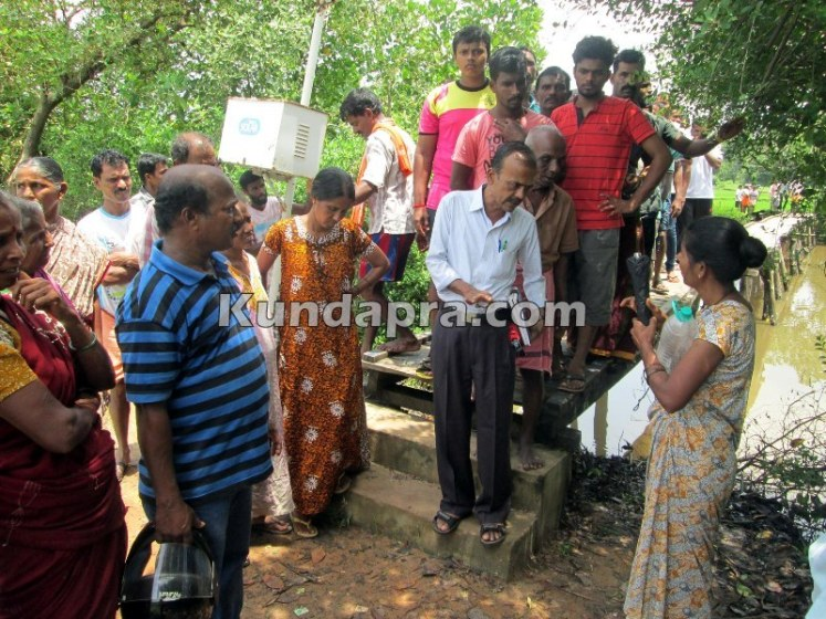 news Saligrama birdge protest