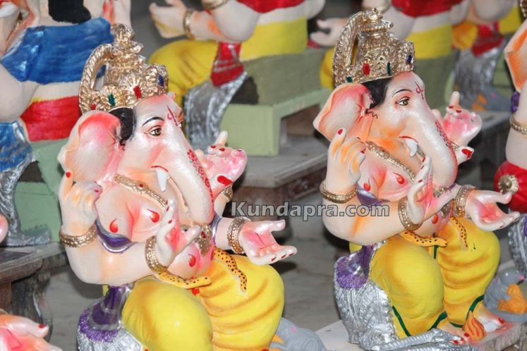 Kundapura ganesh idols makers Vasantha Gudigar made idols has demond in Hydarbad (12)