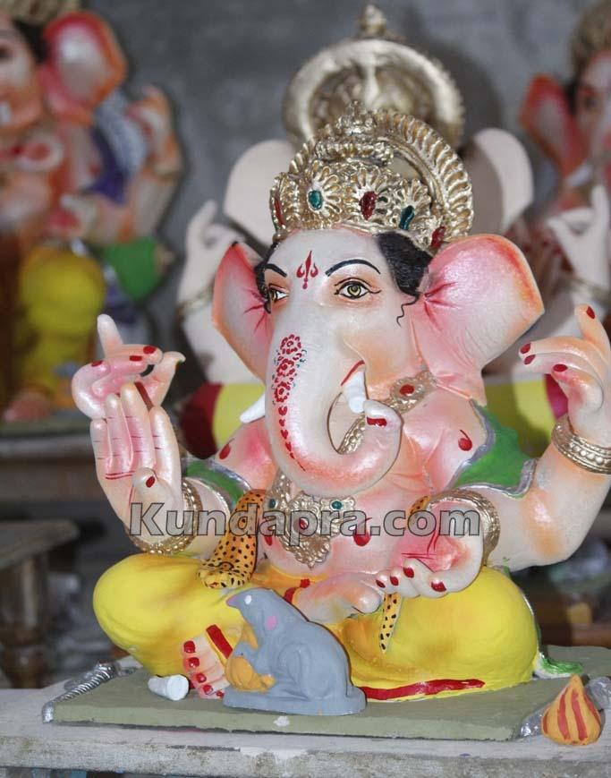 Kundapura ganesh idols makers Vasantha Gudigar made idols has demond in Hydarbad (14)