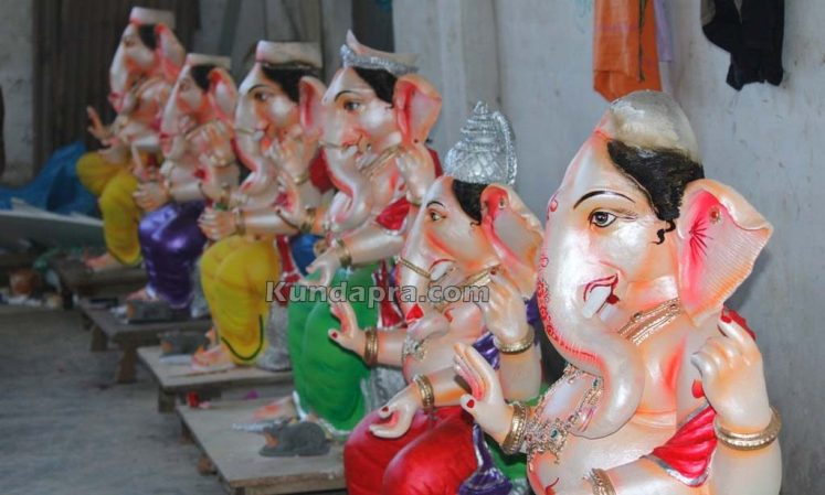 Kundapura ganesh idols makers Vasantha Gudigar made idols has demond in Hydarbad (5)